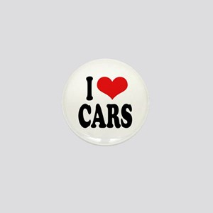 I Love Cars Mini Button