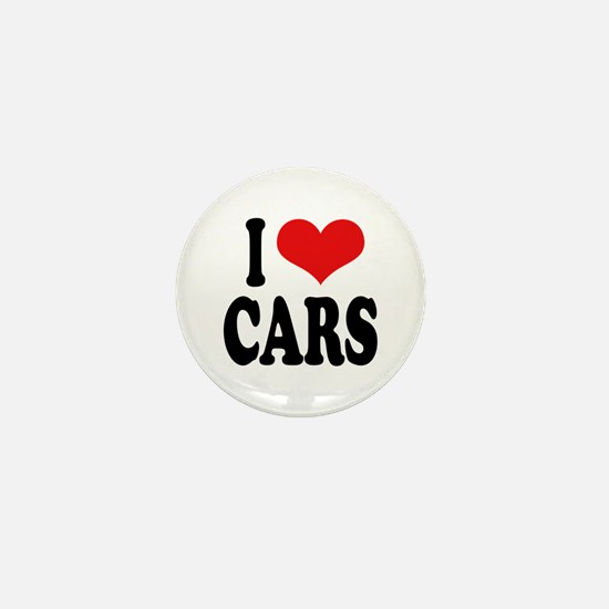 I Love Cars Mini Button
