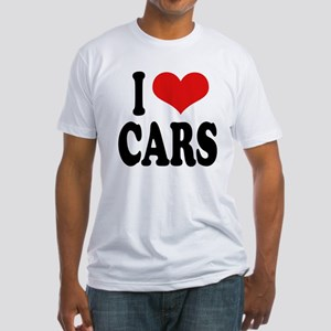 I Love Cars Fitted T-Shirt