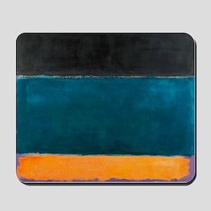 ROTHKO TEAL BROWN BLACK ORANGE Mousepad