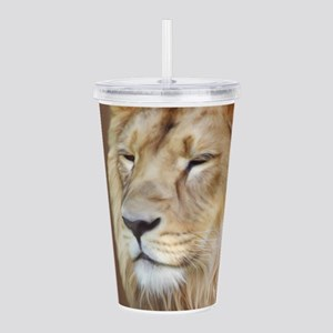 Painting Lion Acrylic Double-wall Tumbler