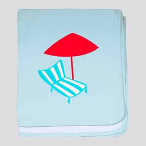 Summer Lounge Chair baby blanket