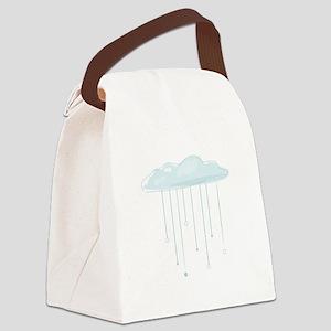 Rain Cloud Canvas Lunch Bag