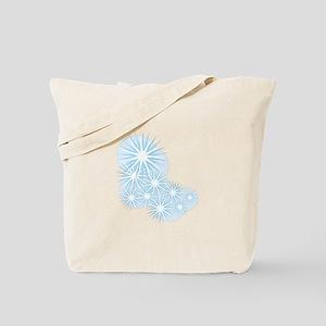 Snowfall Starburst Tote Bag