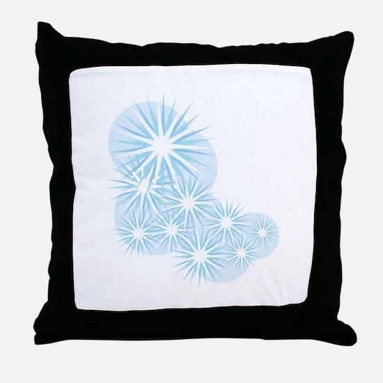 Snowfall Starburst Throw Pillow