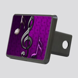Notes clef de Sol by Blues Rectangular Hitch Cover