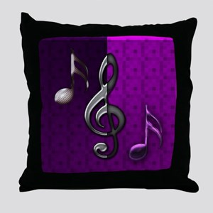Notes clef de Sol by Bluesax Throw Pillow