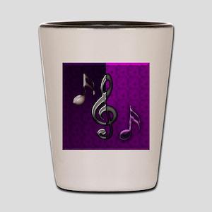 Notes clef de Sol by Bluesax Shot Glass