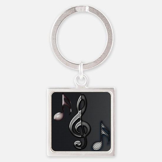 Music by Bluesax Square Keychain