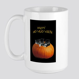 Cute Halloween Puppies Large Mug Mugs