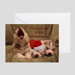 Husky Puppy Christmas Card