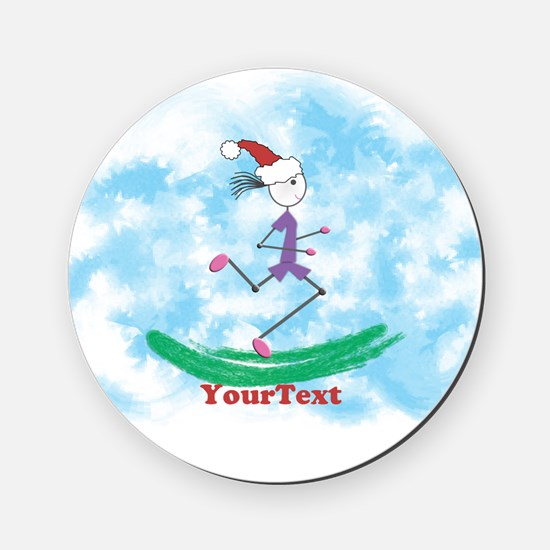 Customize Christmas Lady Runner Cork Cork Coaster