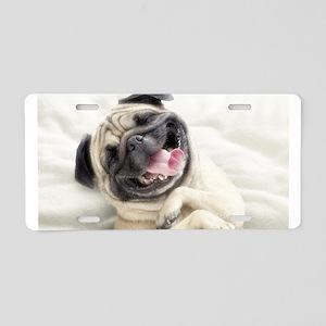 Pug Aluminum License Plate