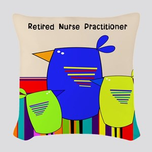 Nurse Practitioner Woven Throw Pillow