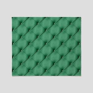 Green Upholstery Pattern Throw Blanket