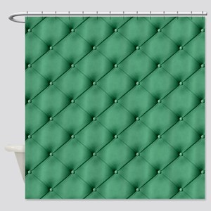 Green Upholstery Pattern Shower Curtain