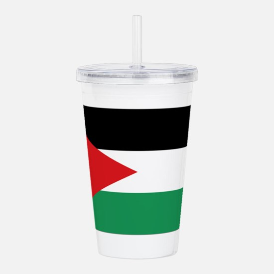 Flag of Jordan Acrylic Double-wall Tumbler