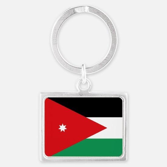 Flag of Jordan Landscape Keychain