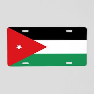 Flag of Jordan Aluminum License Plate