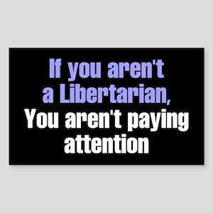 Libertarian Rectangle Sticker