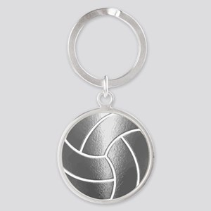 Silver Volleyball Classic Keychains