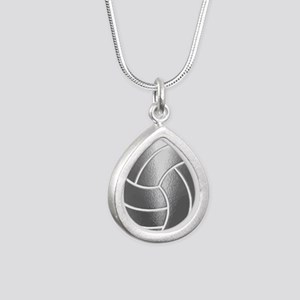 Silver Volleyball Classic Necklaces