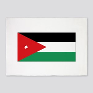 Flag of Jordan 5'x7'Area Rug