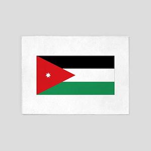 Flag of Jordan 5'x7'Area Rug