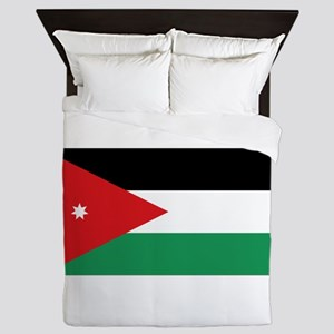 Flag of Jordan Queen Duvet