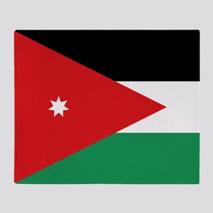 Flag of Jordan Throw Blanket