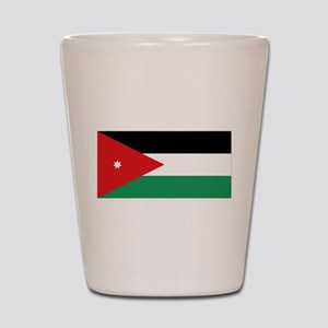 Flag of Jordan Shot Glass