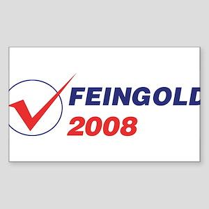 FEINGOLD 2008 (checkbox) Rectangle Sticker