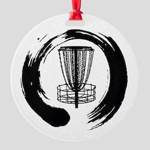 Zen Disc Golf Logo Round Ornament