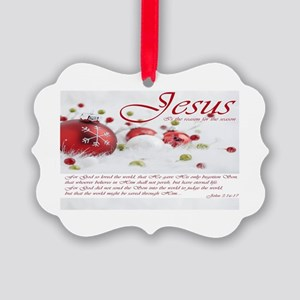 Jesus Is The Reason For Season Picture Ornament