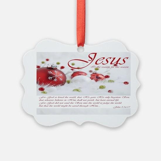 Jesus Is The Reason For Season Ornament