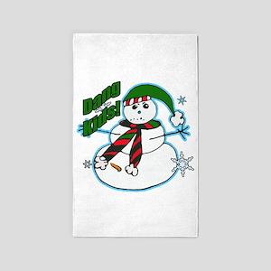 Dang kids snowman Area Rug