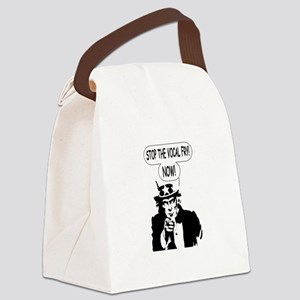 Uncle Sam Stop The Vocal Fry Canvas Lunch Bag