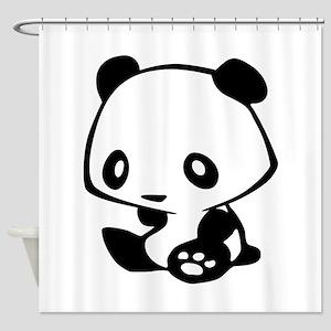 Kawaii Panda Shower Curtain