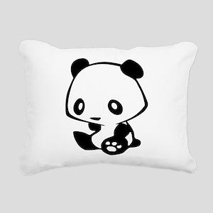 Kawaii Panda Rectangular Canvas Pillow