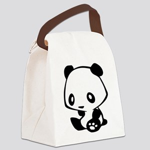 Kawaii Panda Canvas Lunch Bag