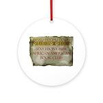 Sexy Ebony BBW AA Book Club Round Ornament