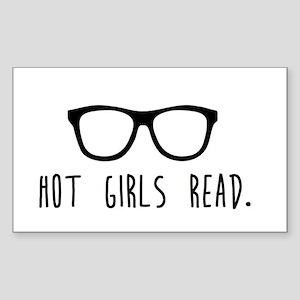 Hot Girls Read Sticker