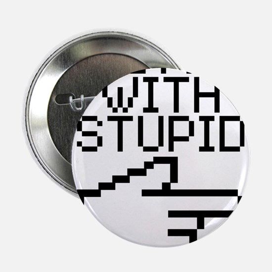 """Im With Stupid 2.25"""" Button (10 pack)"""