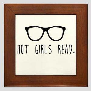 Hot Girls Read Framed Tile