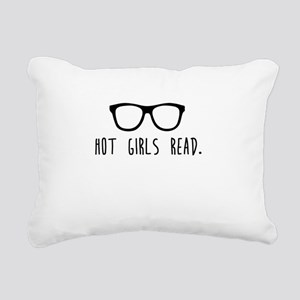 Hot Girls Read Rectangular Canvas Pillow