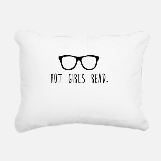 Hot Girls Read Rectangular Canvas Pillow