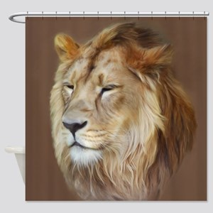 Painting Lion Shower Curtain
