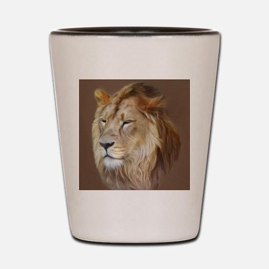 Painting Lion Shot Glass