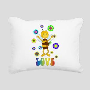 Love Bee Rectangular Canvas Pillow