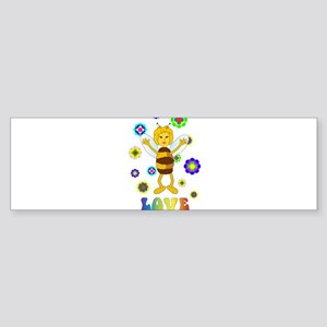 Love Bee Bumper Sticker